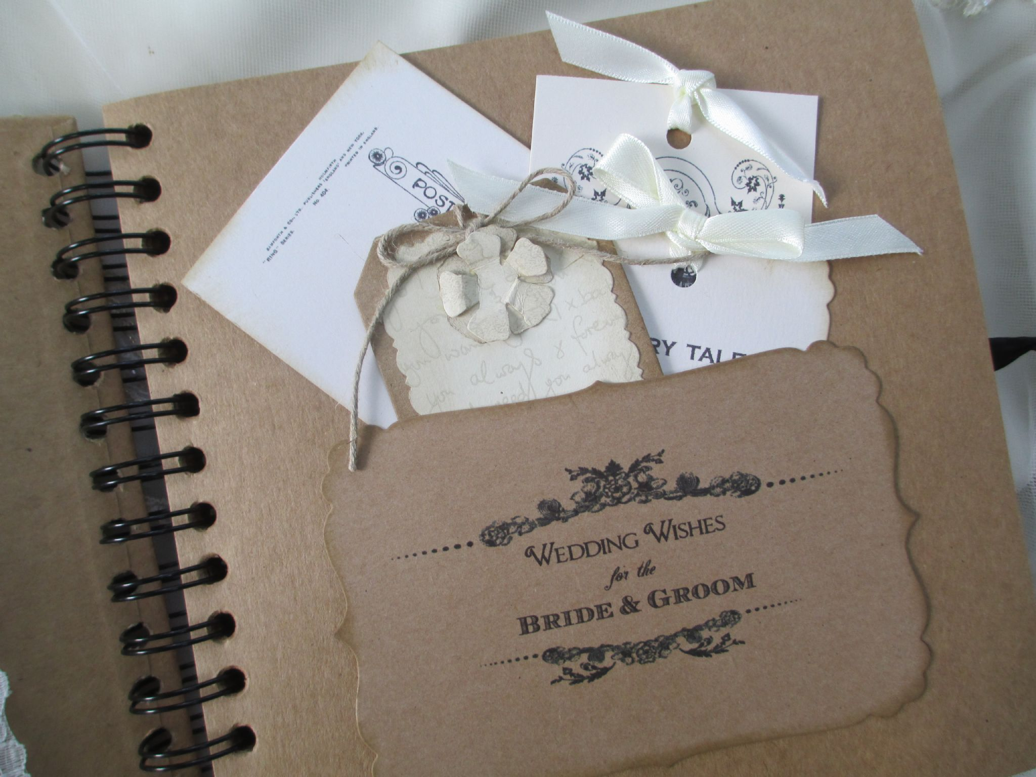 Beautiful Wedding Guest Book Vintage Style | Wedding